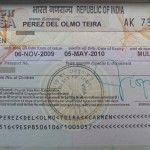 El visado para viajar a India