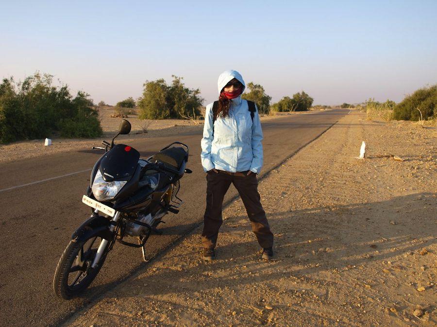 En moto por el desierto