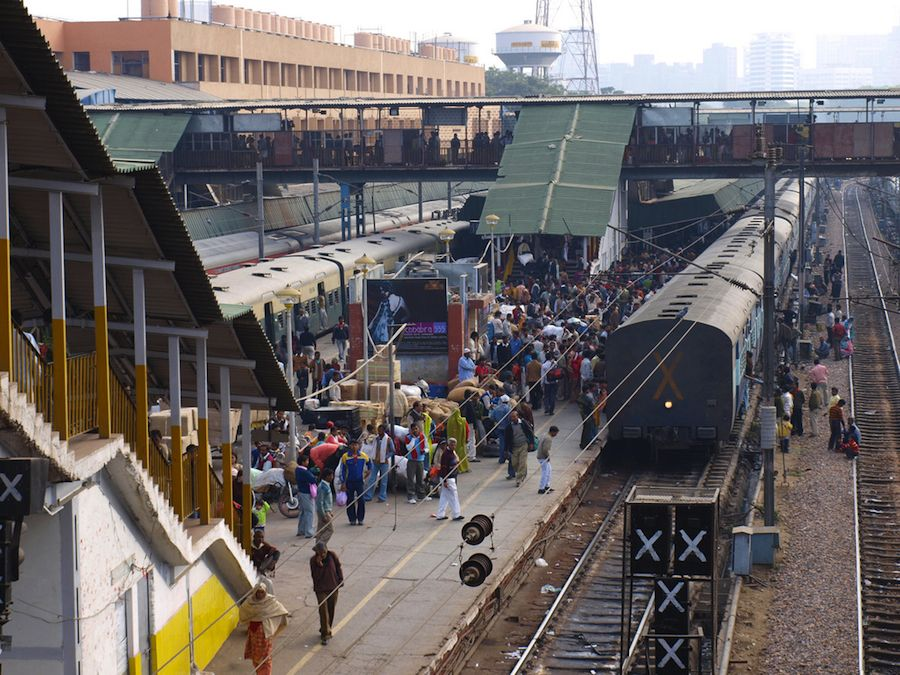 New Delhi tran station platform