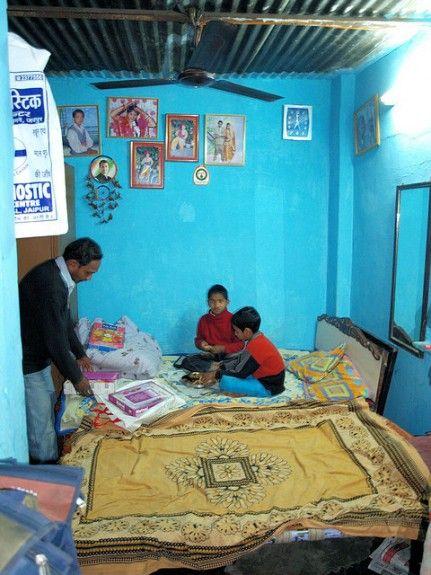 Casa humilde en India