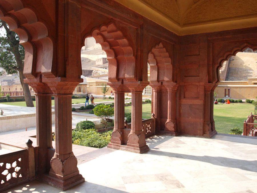 Jardines del Fuerte Amber Jaipur