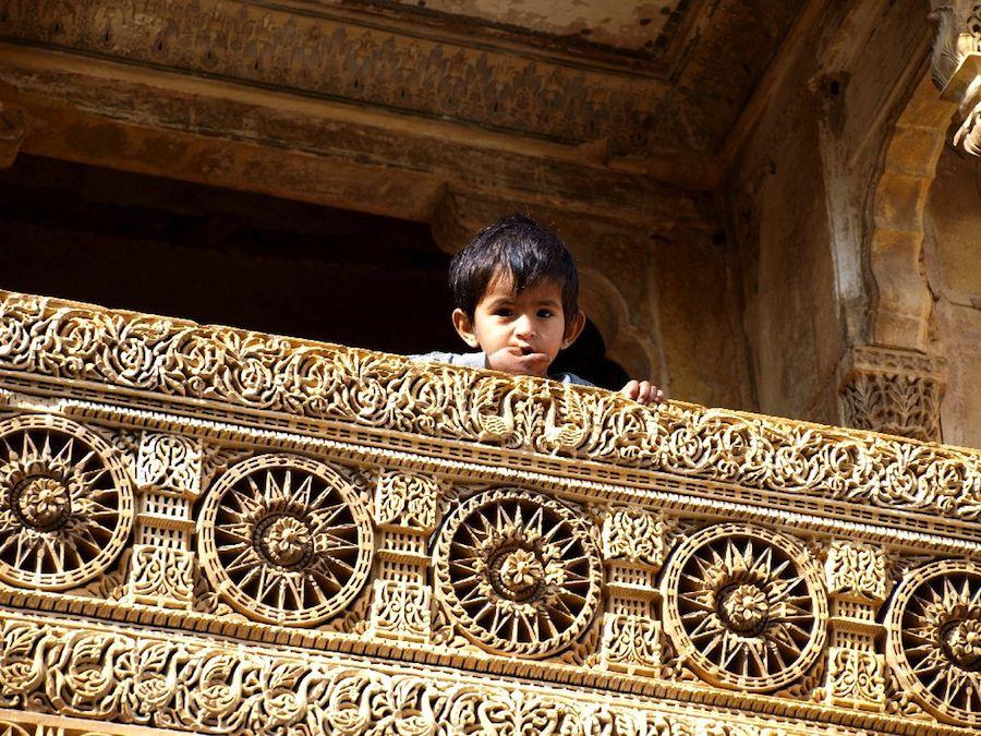 Detalle balcón haveli Jaisalmer