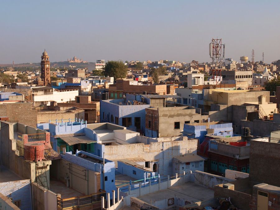 Jodhpur panoramic view and clock tower