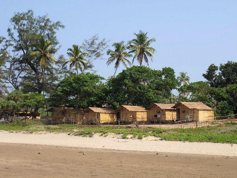Alojamiento en las playas de Goa, India