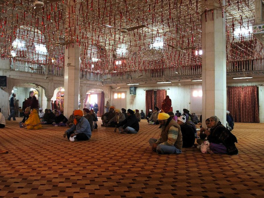 Interior templo sikh sij delhi