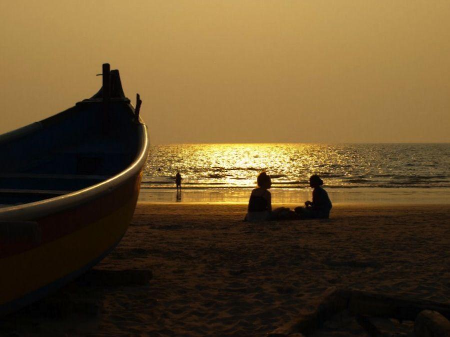 Puesta de sol en Arambol, India