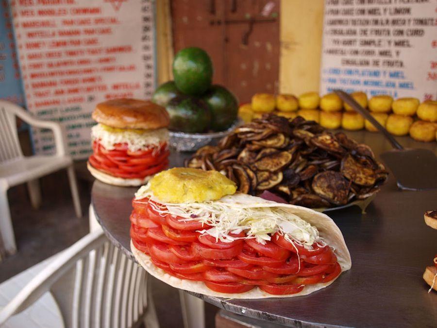 Hamburguesas vegetales  y falafels Pushkar