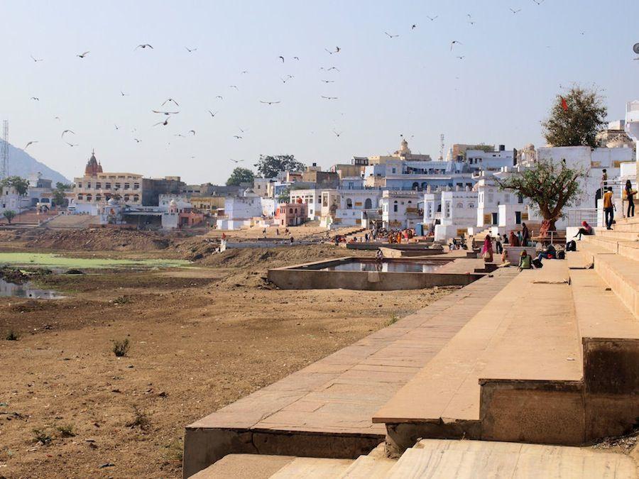 Prohibido fotografiar los ghat de Pushkar
