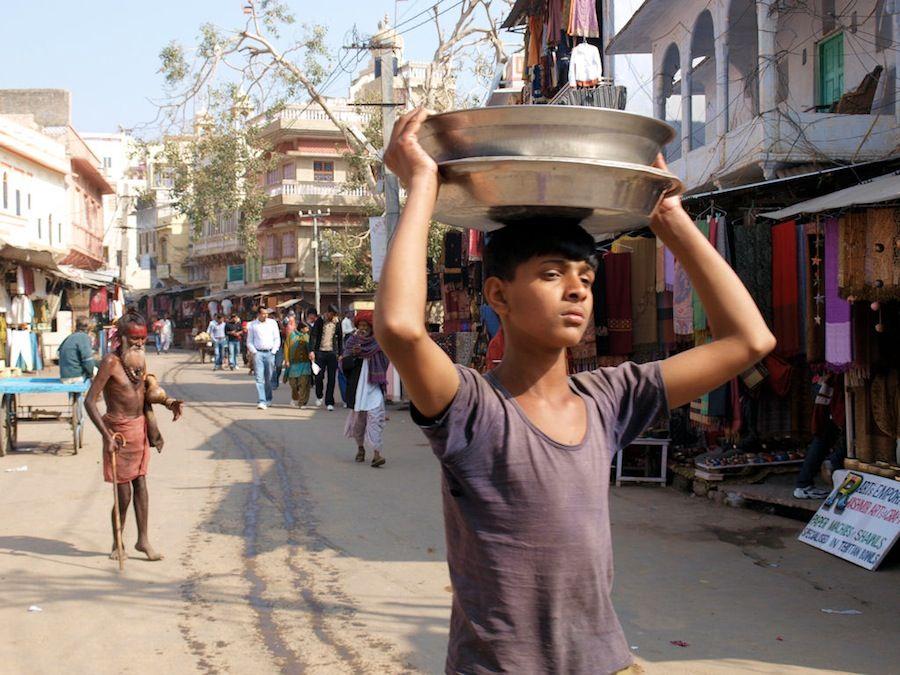 Pushkar tiendas ropa India