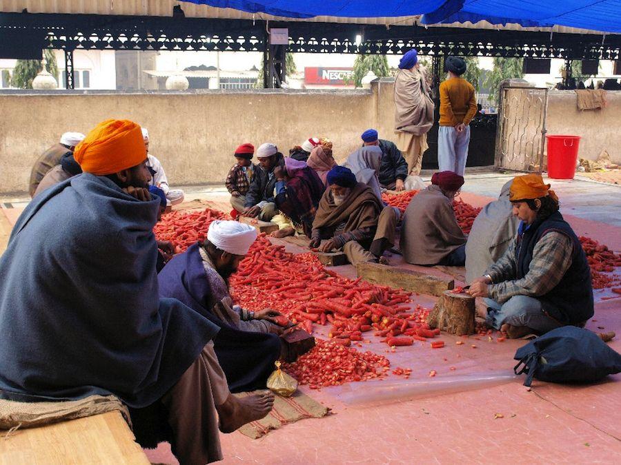 preparando comida templo dorado amritsar