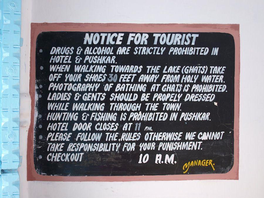 Prohibiciones y reglas en Pushkar, ciudad sagrada