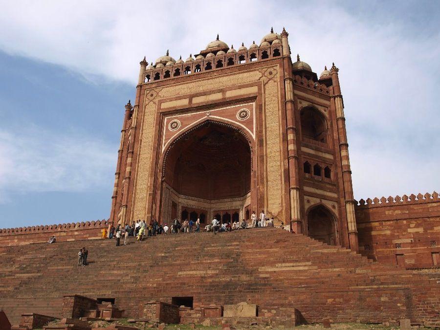 Fatehpur Sikri, entrada a la Gran Mezquita