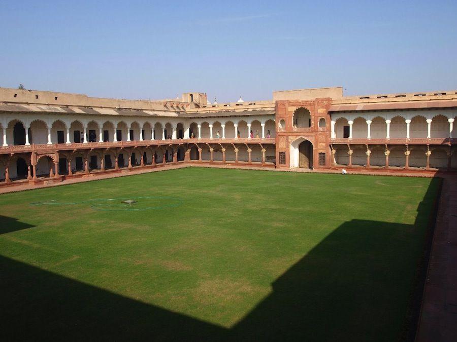 Jardines Fuerte Rojo Agra India