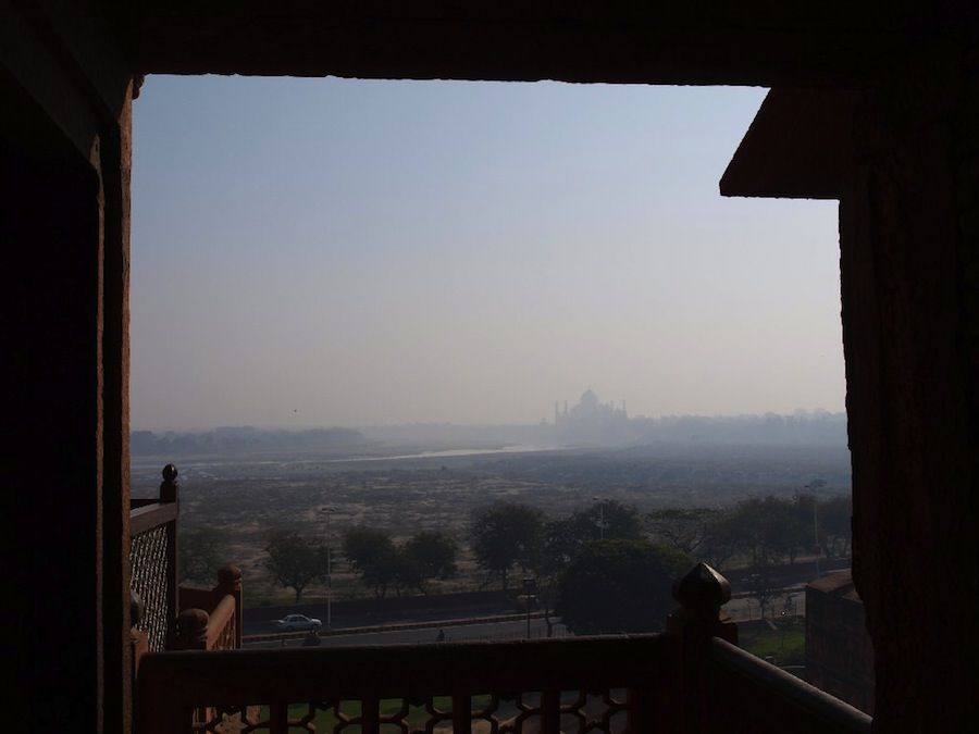 Taj-Mahal desde el Fuerte de Agra