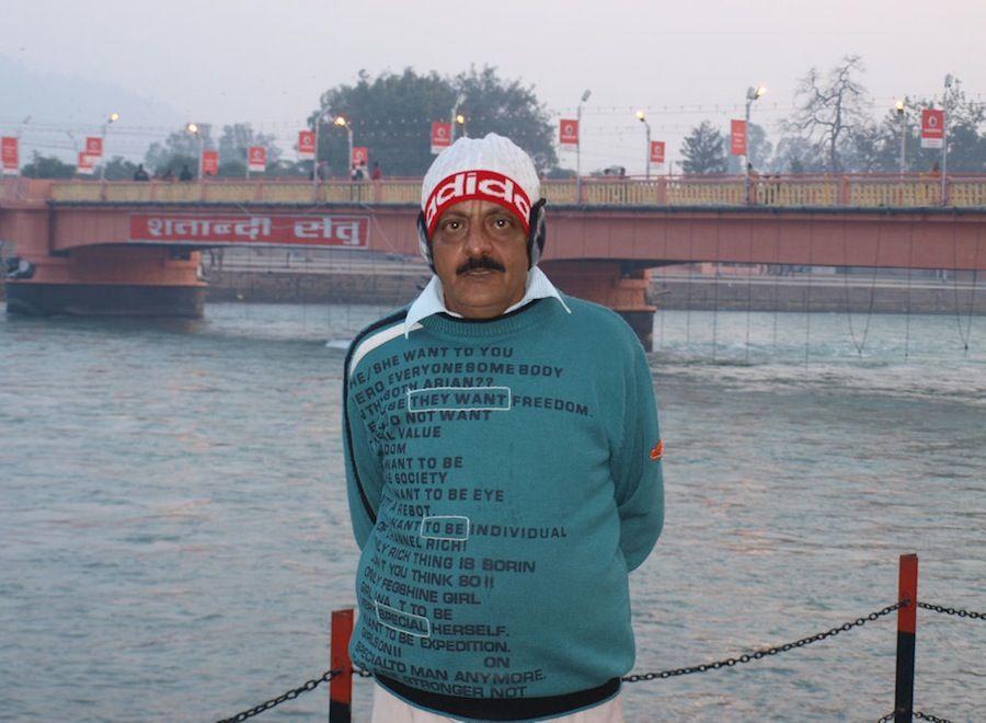 Fotografia de un indio en Haridwar