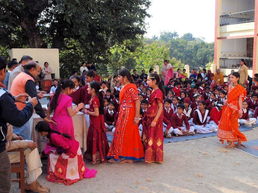 Niñas en un colegio de India