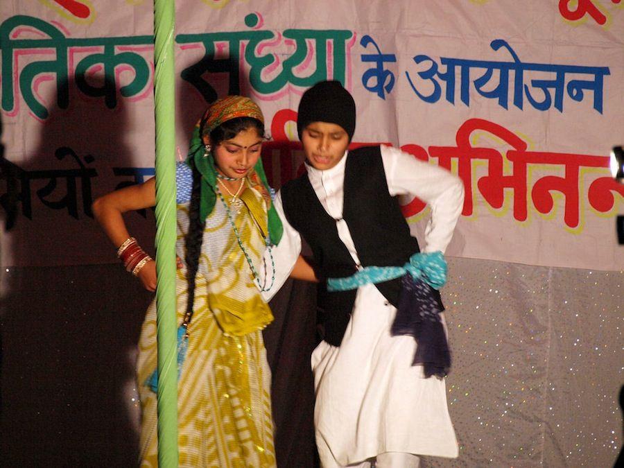 Rishikesh: espectaculo de niños