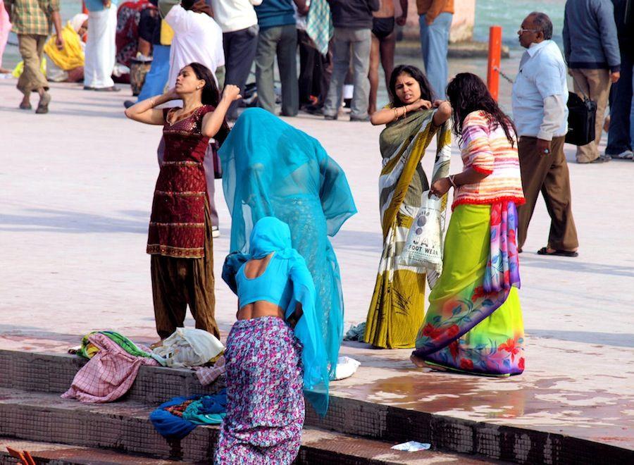 Viaje a India, ghats de Haridwar