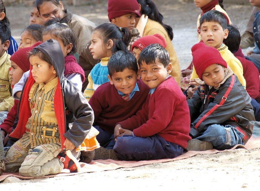 Niños de India, colegio