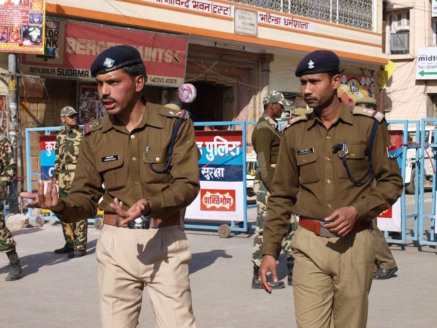 Controles policiales en India