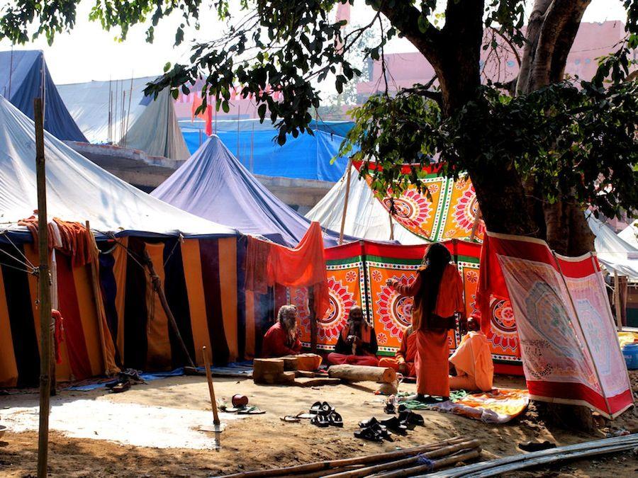 Campamento en Haridwar, viaje al Kumbh Mela