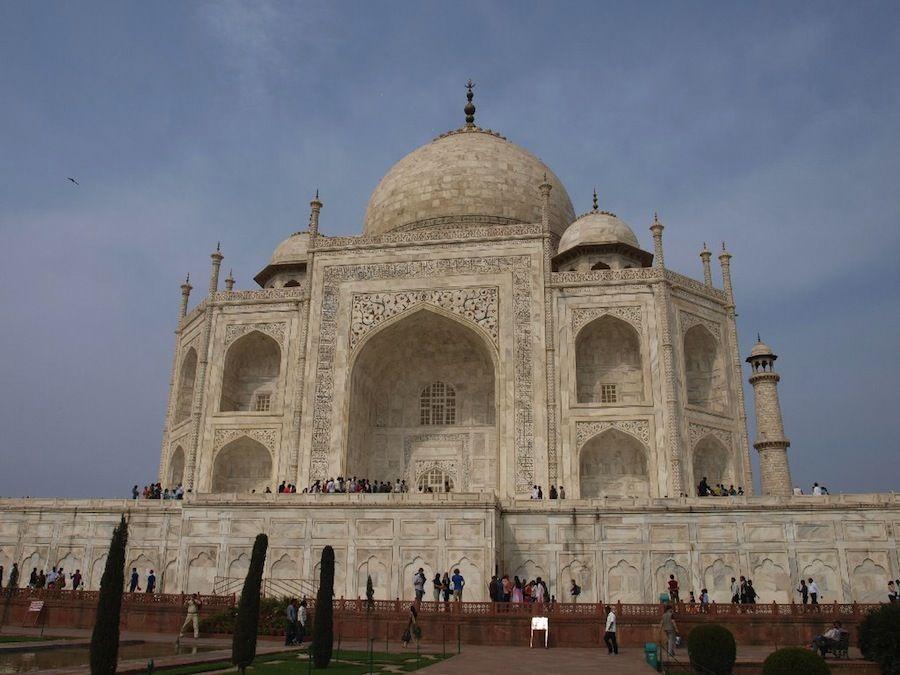 Taj Mahal de marmol blanco