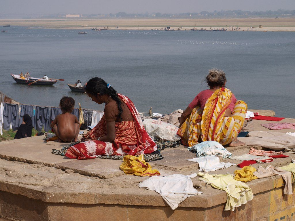 India Ganges ghat Varanasi