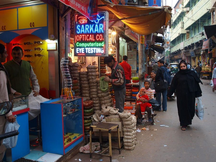 Chandni Chowk, bazares, India, compras, Delhi, viajes