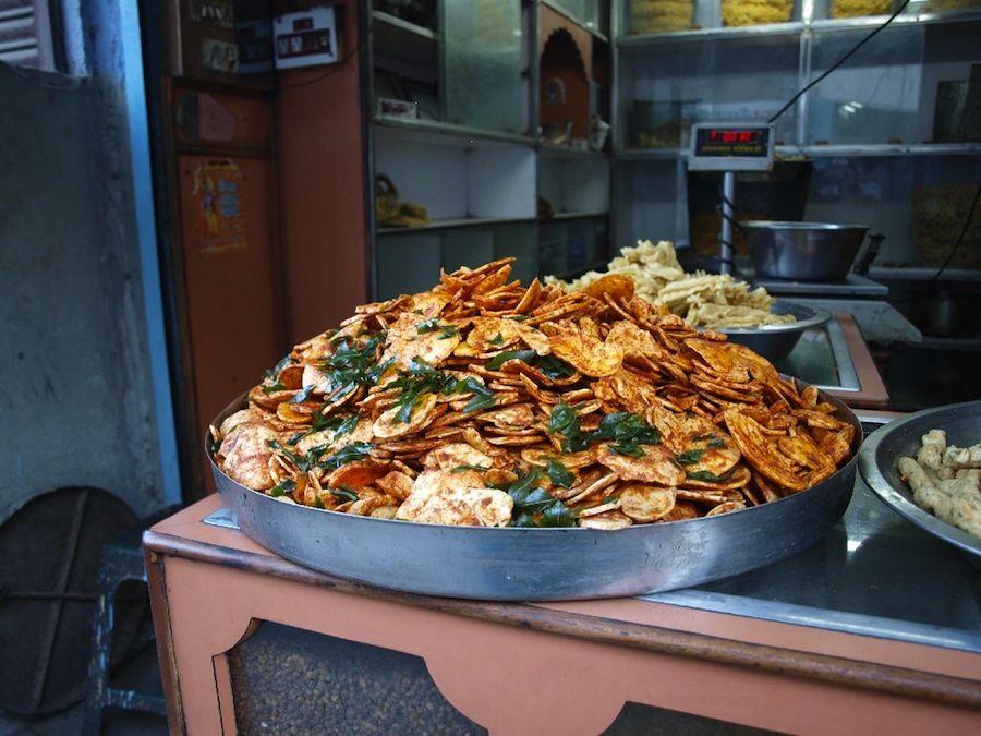 platillos, India, comida, barato, callejero