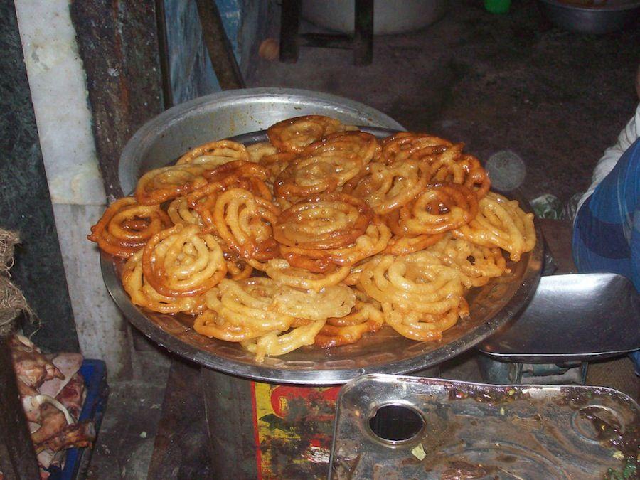 platillos, dulces, India, comida callejera, barato