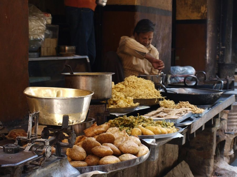 platillos, India, comer, barato, vegetariano, callejero
