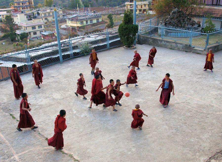 Monjes budistas en Nepal