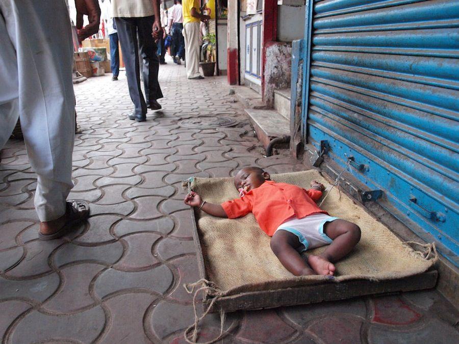 India, pobreza, Calcuta, calles, niños