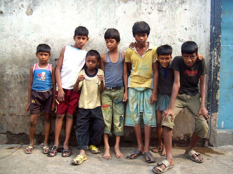 Pobreza, miseria, India, viajar a India, niños