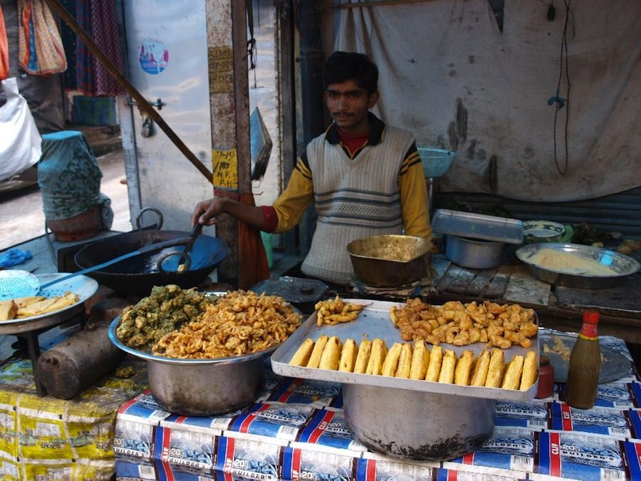 Pakoras, platillos, india, comer, barato, mochileros
