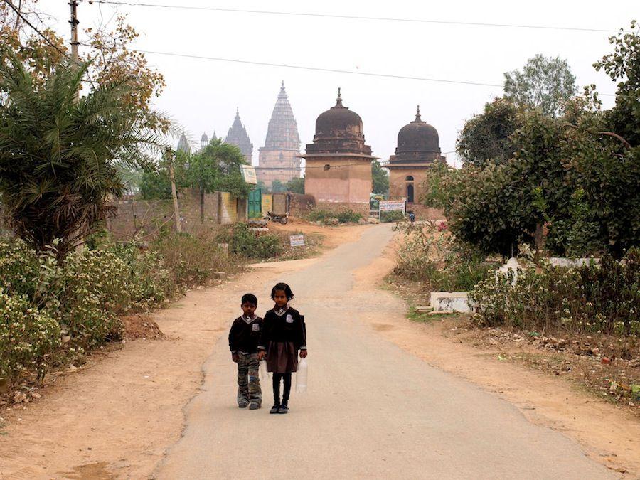 India, viaje, ninos, Orchha, que ver, palacios