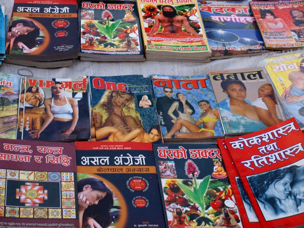 pornografia, revistas, asia, nepal