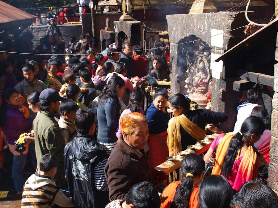 Templo hinduista en Nepal
