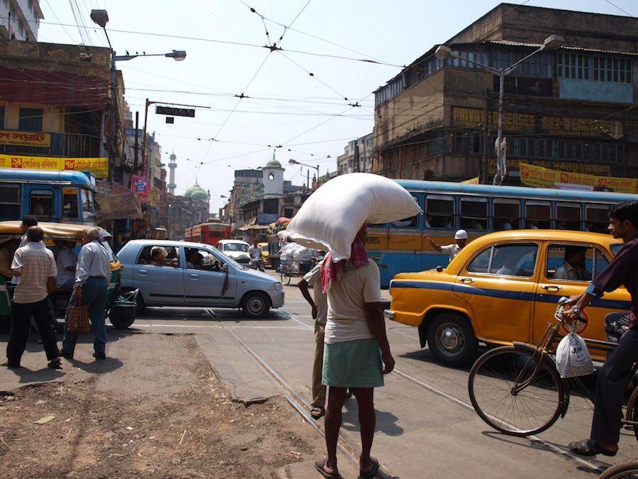 Calcuta, que ver, India, capital, centro, trafico, atasco