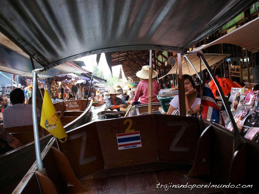 tailandia, bangkok, que ver, mercado flotante, barca