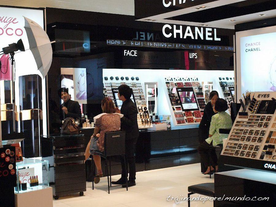 bangkok, centros comerciales, compras, lujo, cosmetica