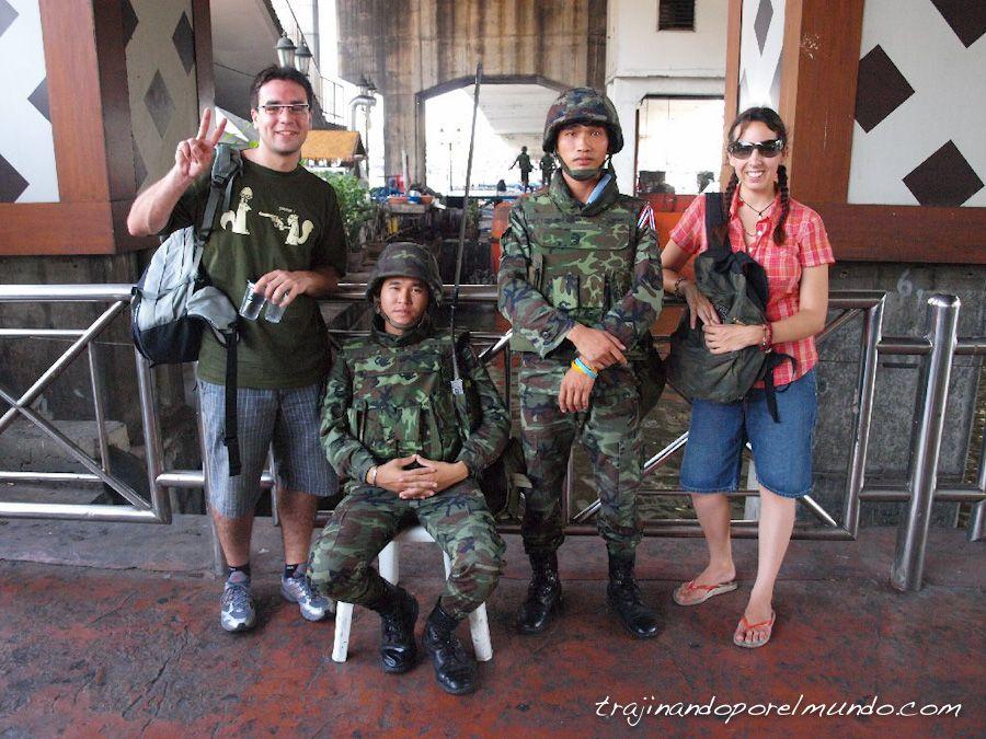 tailandia, ejercito, golpe de estado, soldados, bangkok, turistas