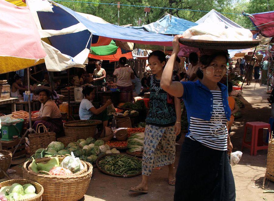 viaje, Myanmar, que ver, mercado, bagan