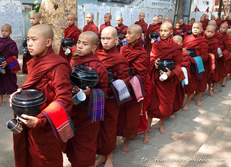 viaje, Myanmar, budismo, templos, religion