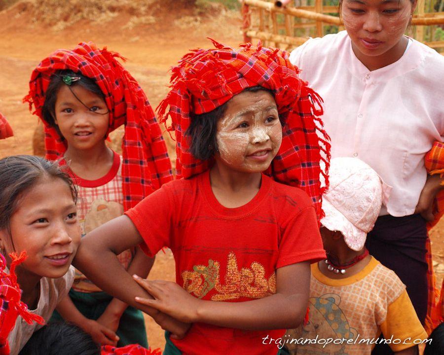Birmania, thanaka, minorias etnicas, tribus, trekking