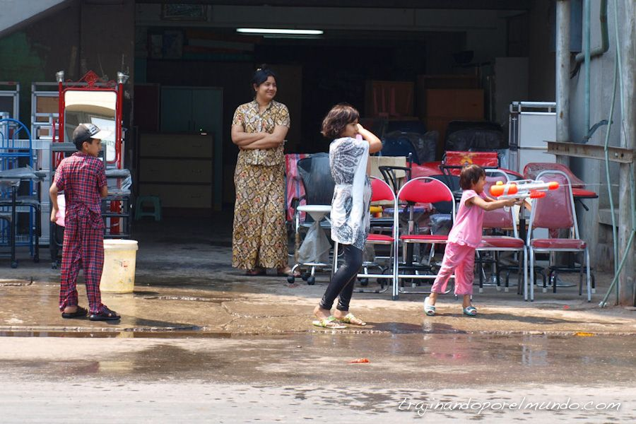 viaje, Asia, año nuevo, water festival, myanmar