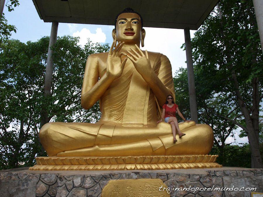 Camboya, viaje, estatua, buda, Battambang