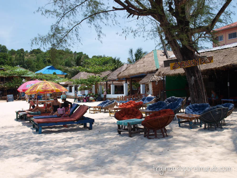 Sihanoukvill, playa, Camboya, comer barato, mochileros