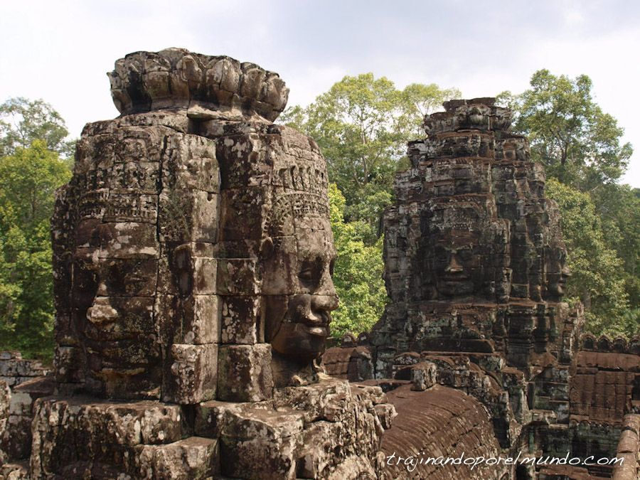 Camboya, templos, angkor, caras, buda, rey