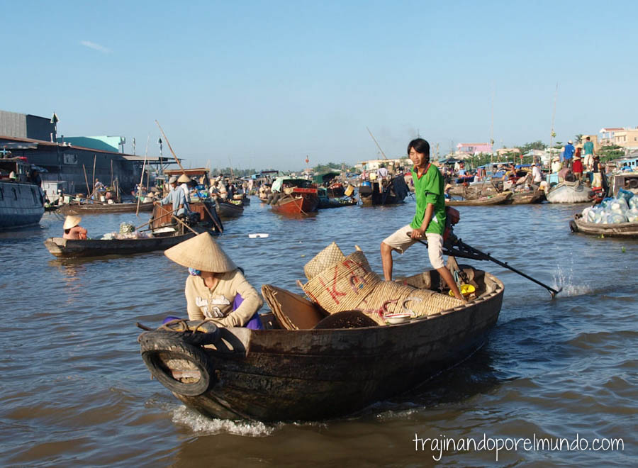 mekong, mercados flotantes, excursion, barca, vietnam